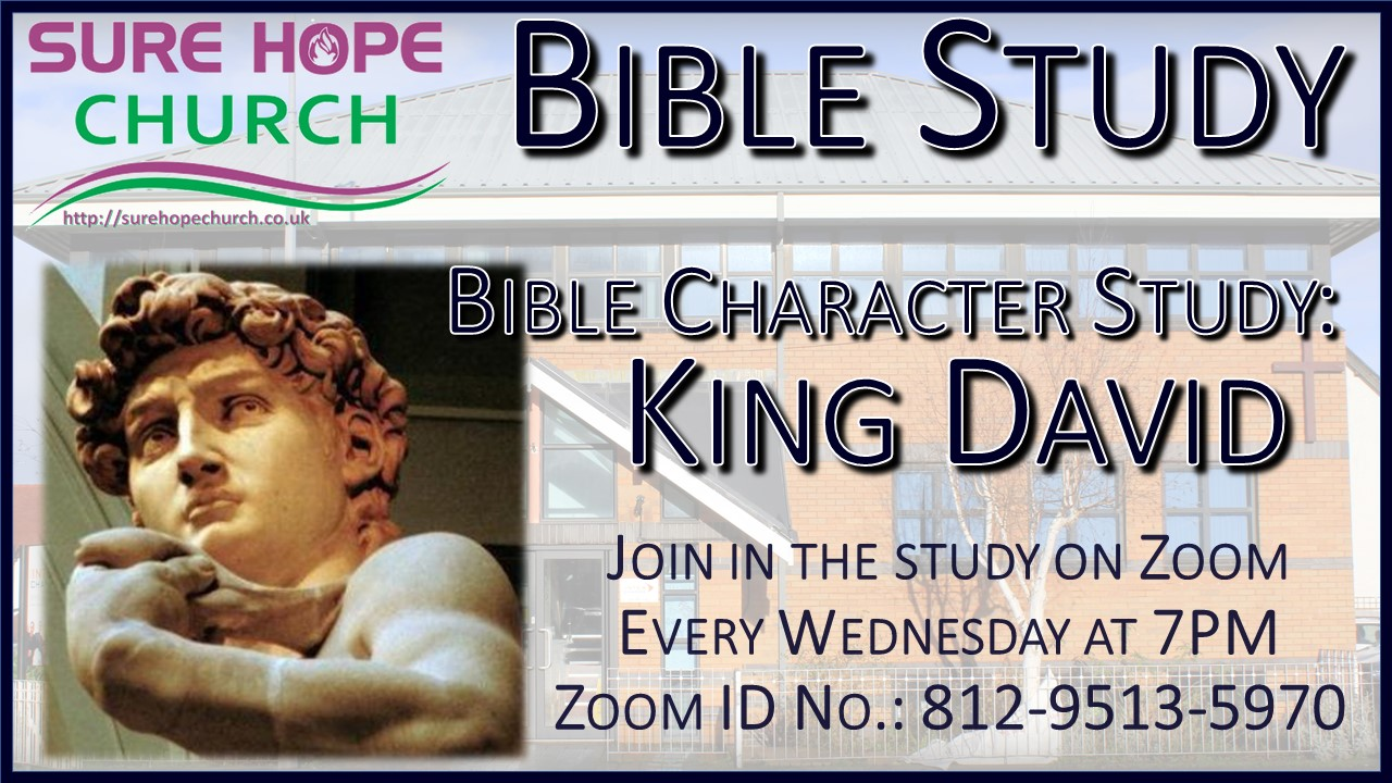 Join in the Bible Study on Zoom using ID number 812-9513-5970