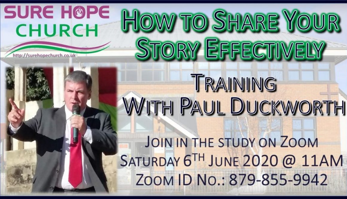 Paul Duckworth - How to Share your Story Effectively